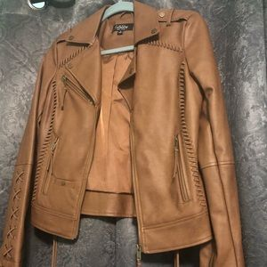 Never worn Mocha leather Jacket